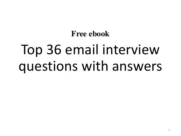 top 36 email interview questions with answers pdf