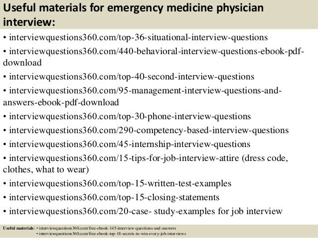 Top 10 Emergency Medicine Physician Interview Questions