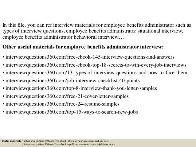 Top 10 employee benefits administrator interview questions and answers
