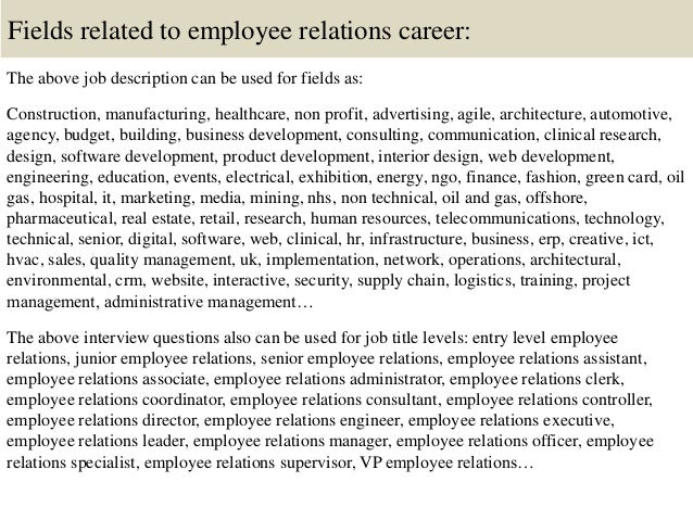 Top 10 employee relations interview questions and answers