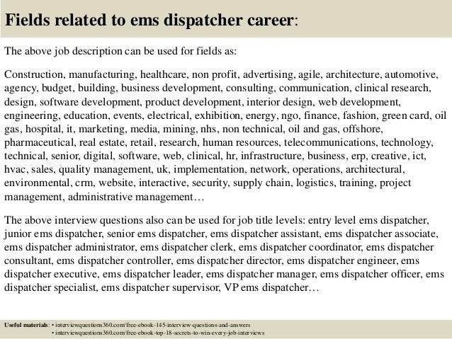Top 10 ems dispatcher interview questions and answers – Paramedic Job Description