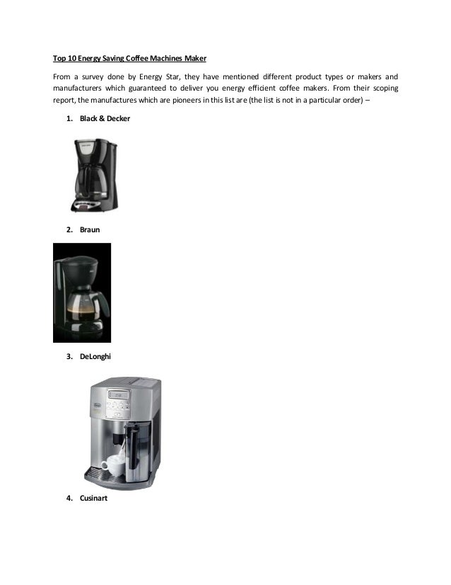 top 10 energy saving coffee machines maker. Black Bedroom Furniture Sets. Home Design Ideas