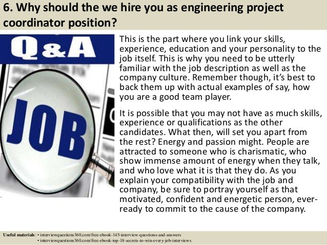 Top 10 engineering project coordinator interview questions and answers