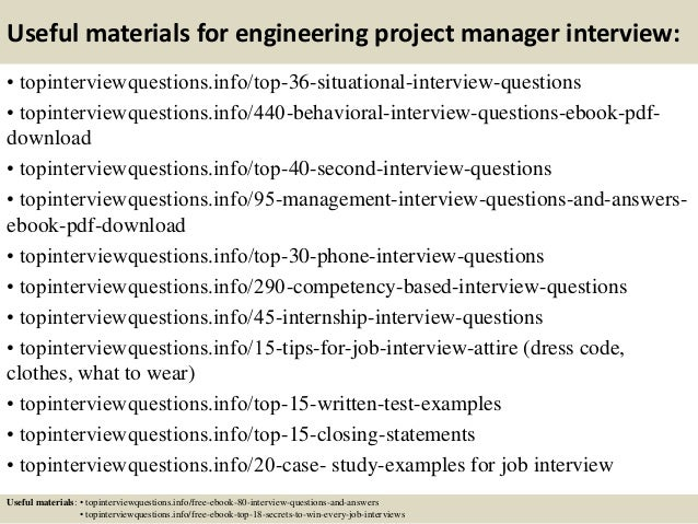 Top 10 engineering project manager interview questions and answers