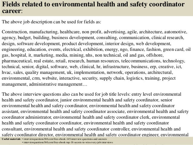 Top 10 environmental health and safety coordinator interview question…