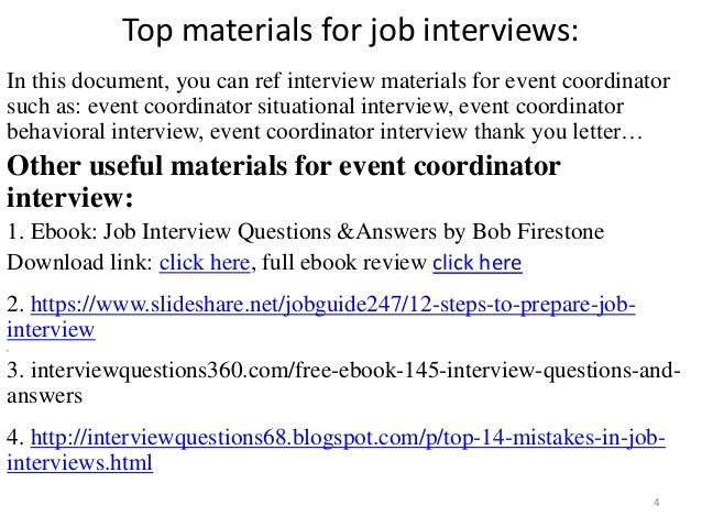 event coordinator interview 4 - Event Coordinator Interview Questions And Answers