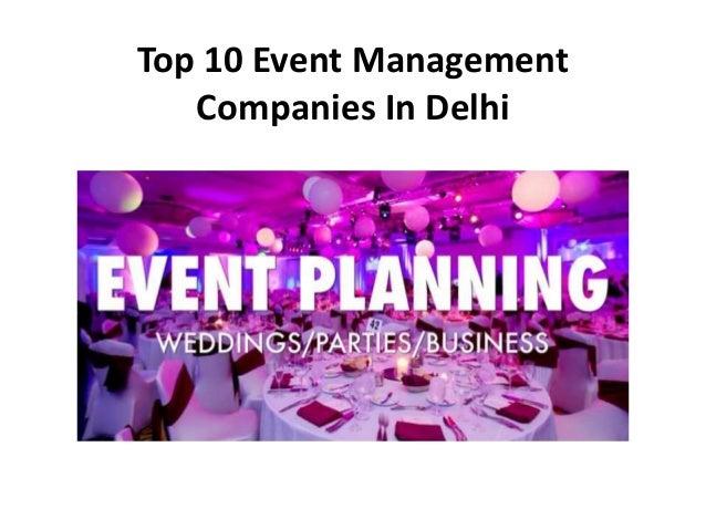 Top 10 Event Management Companies In Delhi