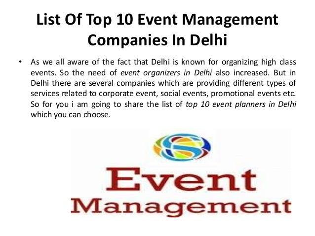 Top 10 Event Management Companies In Delhi Slide 3