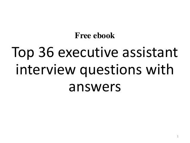 executive assistant interview questions and answers