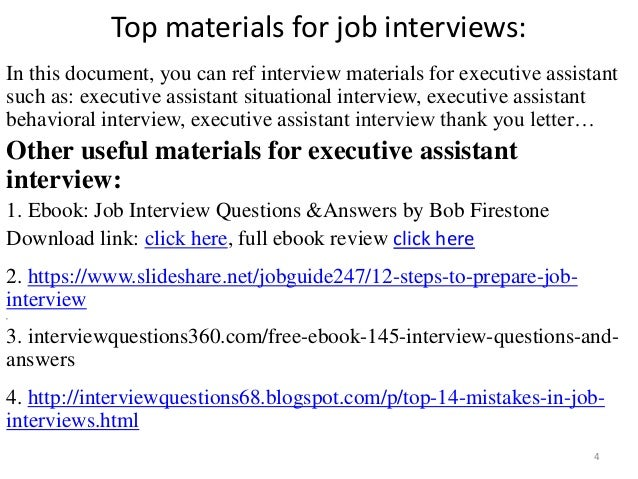 top executive assistant interview questions and answers executive assistant interview 4