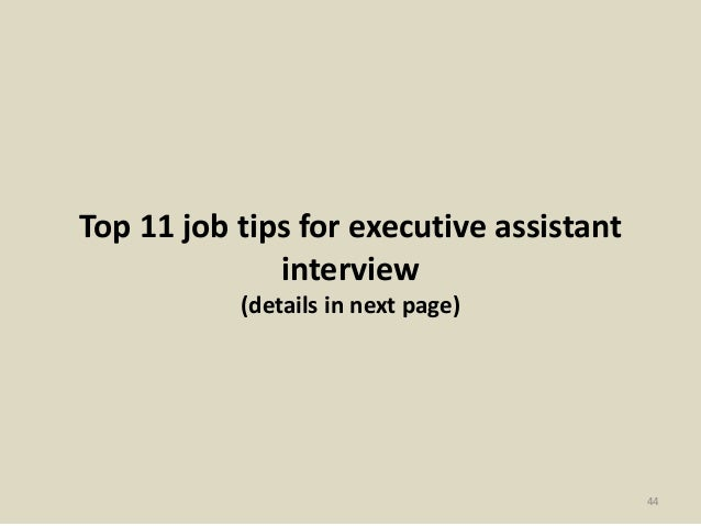 top executive assistant interview questions and answers 44 top 11 job tips for executive assistant interview