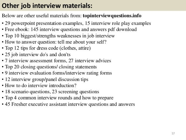 Top 36 executive assistant interview questions and answers