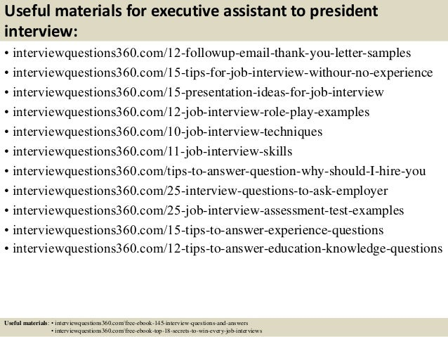 top executive assistant to president interview questions and answe 15 useful materials for executive assistant to president interview