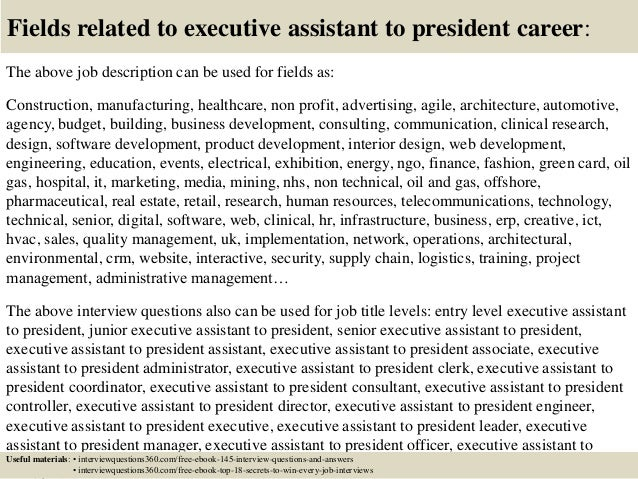 Top 10 Executive Assistant To President Interview Questions And Answe…