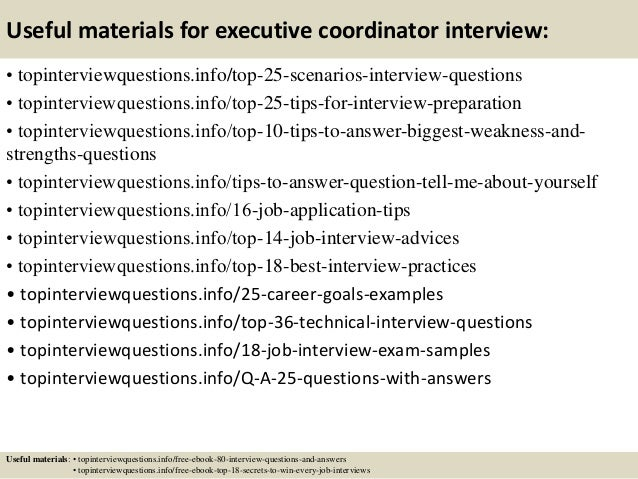 13 useful materials for executive coordinator interview - Executive Coordinator Interview Questions And Answers
