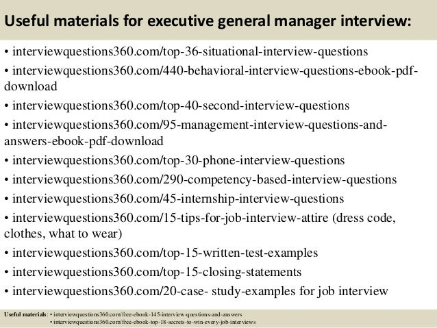 Top 10 executive general manager interview questions and answers 13 useful materials for executive general manager fandeluxe PDF