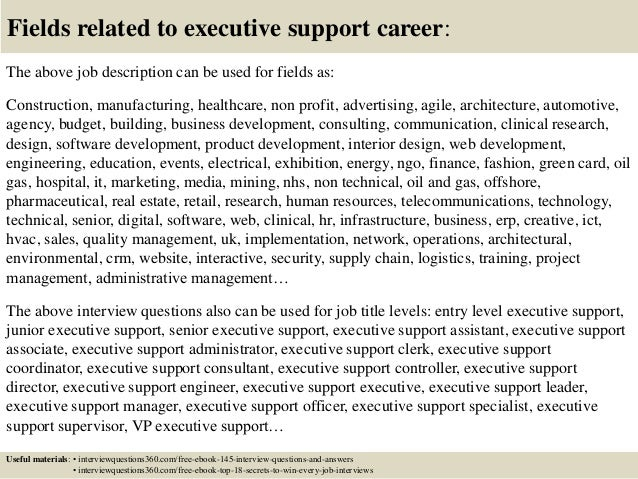 Top 10 executive support interview questions and answers