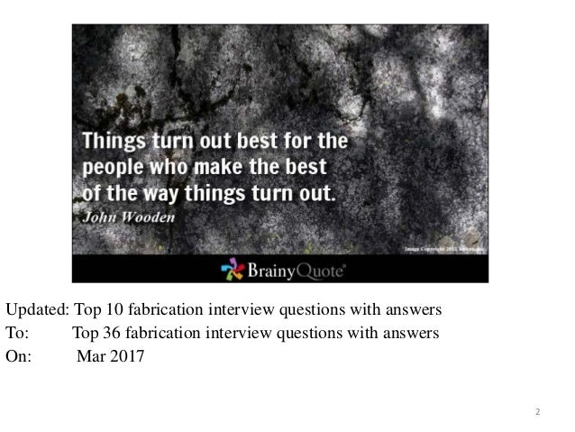 Free Ebook Top 36 Fabrication Interview Questions With Answers 1; 2.
