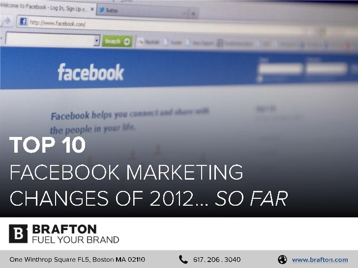 Top 10 Facebook Marketing Changes of 2012