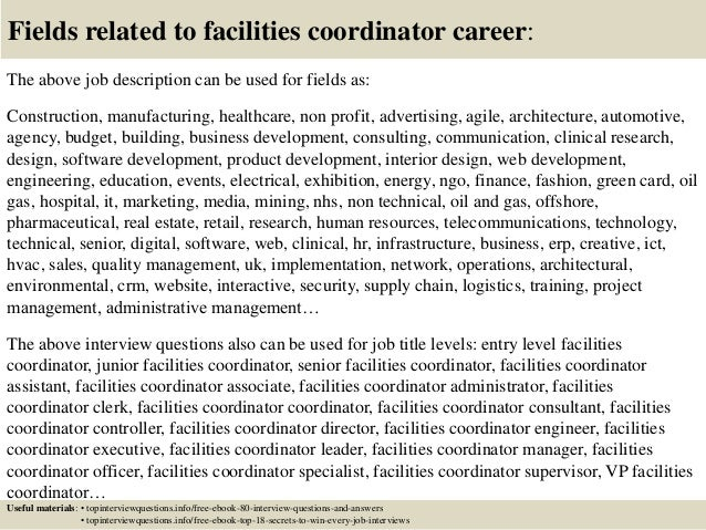 Top 10 facilities coordinator interview questions and answers