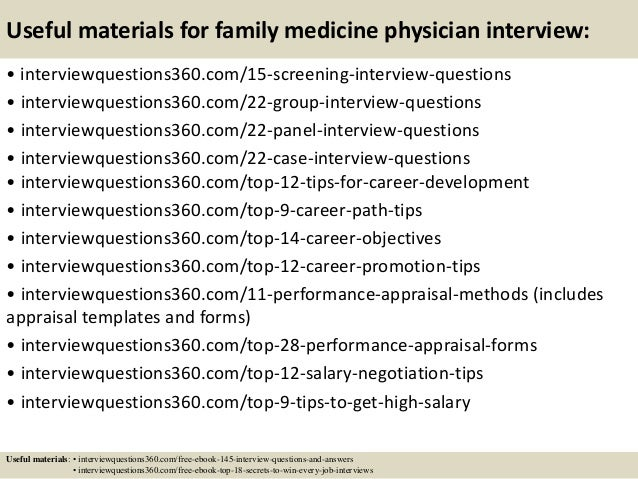 interview questions for a doctor