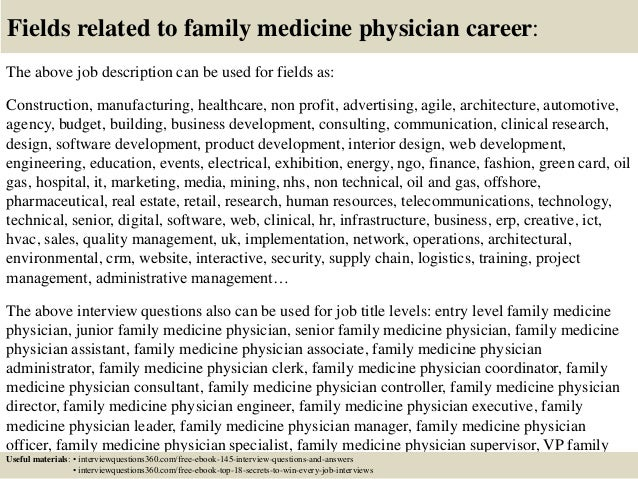Top 10 family medicine physician interview questions and answers – Physician Job Description