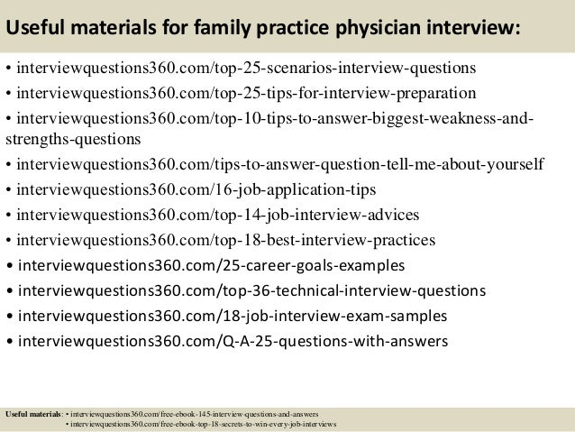 14 useful materials for family practice physician interview - Mock Interview Questions Job Interview Videos Practicing