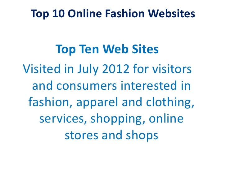 top 10 fashion and clothing shopping websites