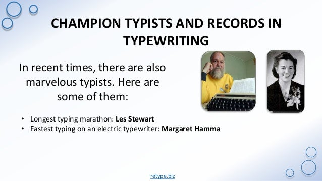 Top 10 Fastest Typist In The World