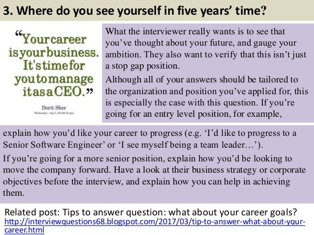 Tell Me About Yourself Job Interview Fast Food