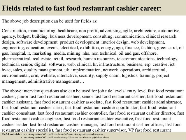 Food Preparer Job Description