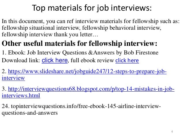 ... Tips To Prepare For Fellowship Interview; 4.