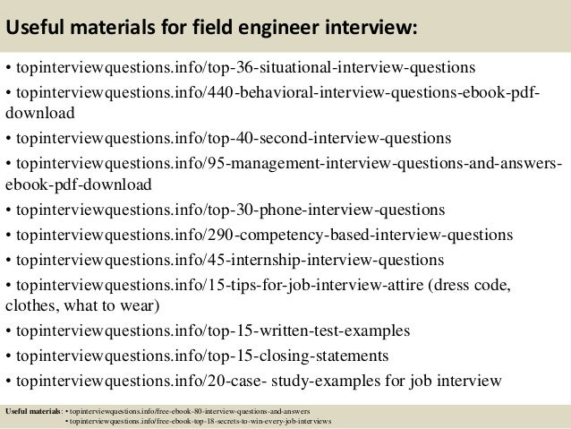 12 useful materials for field engineer - Premier Field Engineer Sample Resume