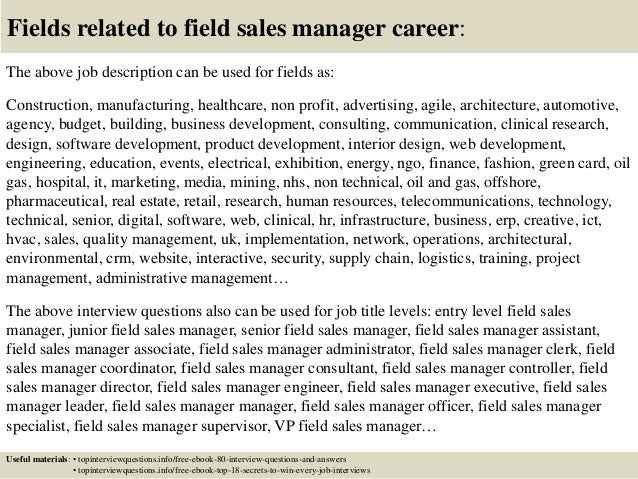 Top 10 field sales manager interview questions and answers