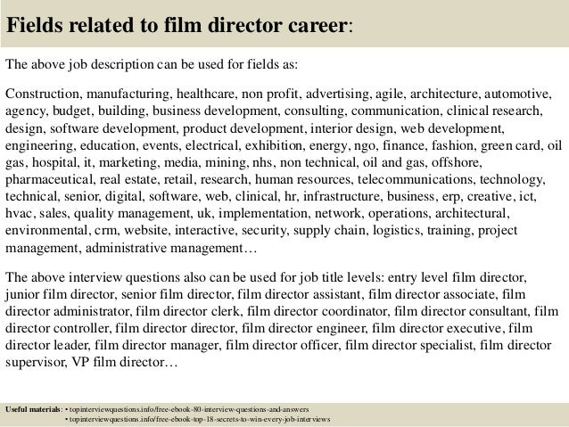 Top 10 film director interview questions and answers – Film Director Job Description
