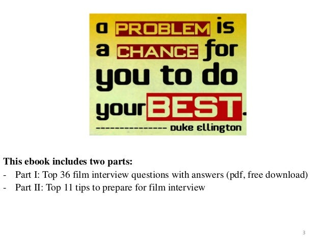 Top 36 film interview questions with answers pdf fandeluxe Gallery