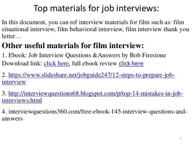 Top 36 film interview questions with answers pdf top materials fandeluxe Gallery