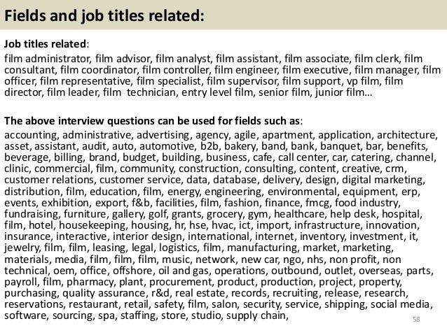 Top 36 film interview questions with answers pdf 58 fandeluxe Gallery