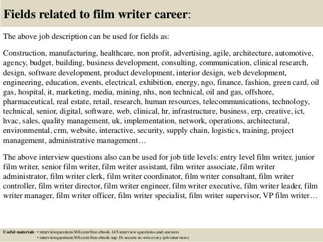 writer statement film