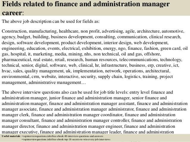 Finance Director Job Description. Associate Financial Analyst Job ...