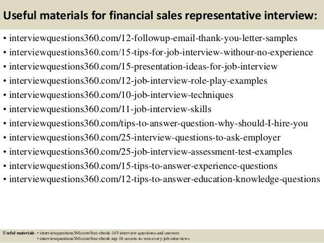 sales representative interview questions