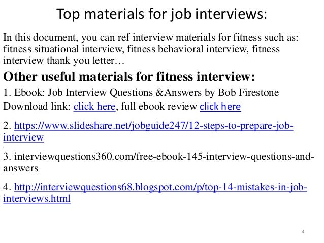 Top 36 Fitness Interview Questions With Answers Pdf