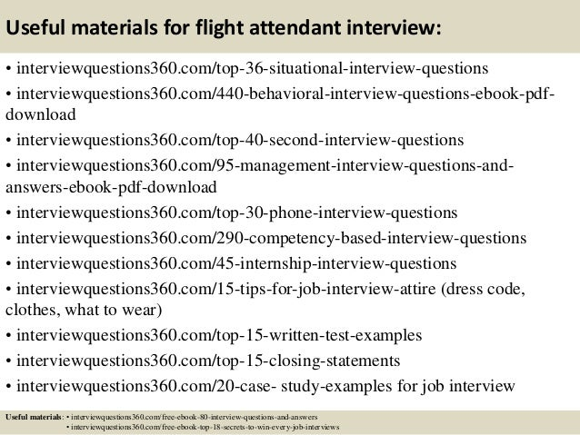 ... 12. Useful Materials For Flight Attendant ...