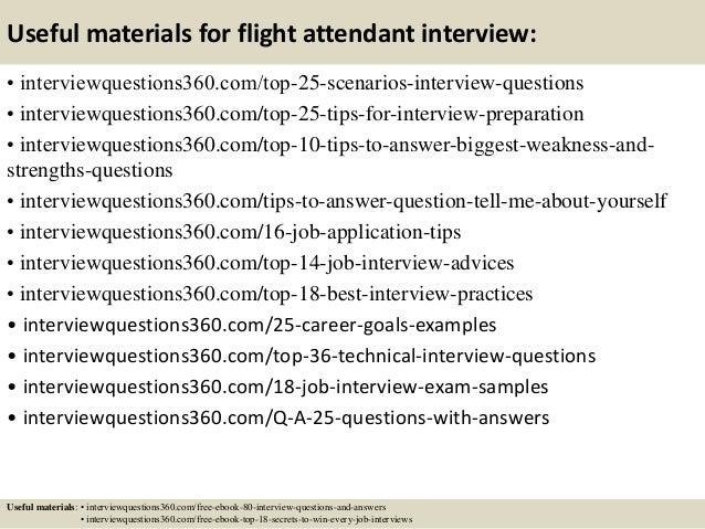 13 useful materials for flight attendant