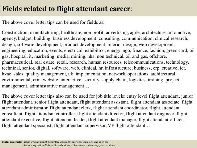 ... 16. Fields Related To Flight Attendant Career: The Above Cover Letter  ...