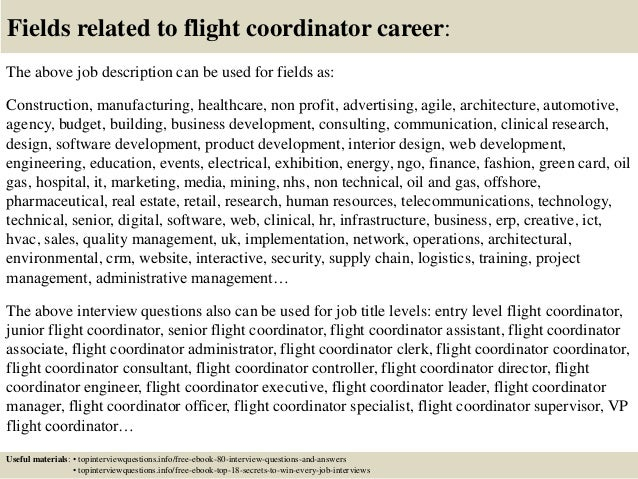 Top 10 flight coordinator interview questions and answers