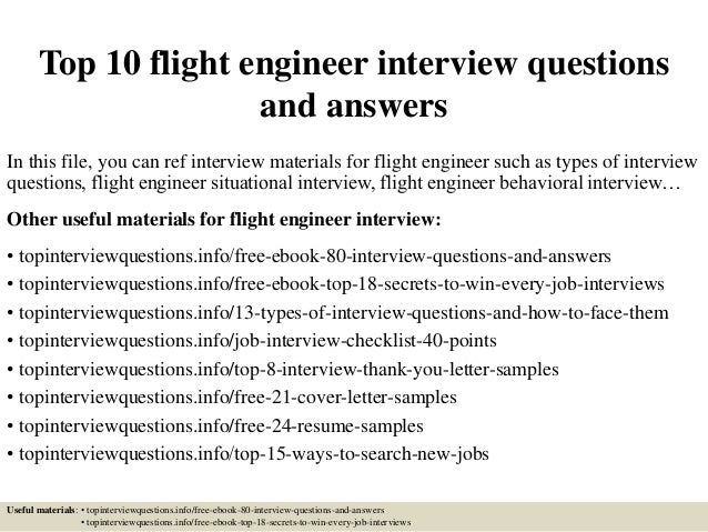 top 10 flight engineer interview questions and answers