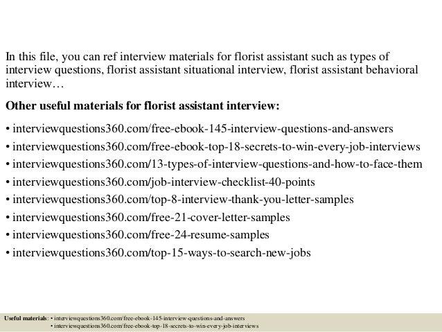 Florist Resume   Resume CV Cover Letter
