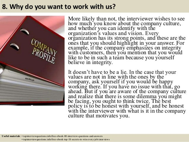 9 8 - What Is Your Ability To Work Without Supervision Interview Question And Answers