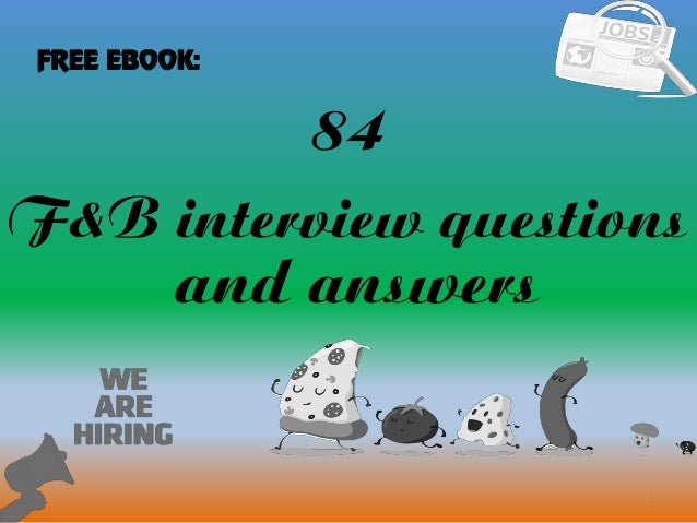 84 1 Fu0026B Interview Questions And Answers FREE EBOOK: .